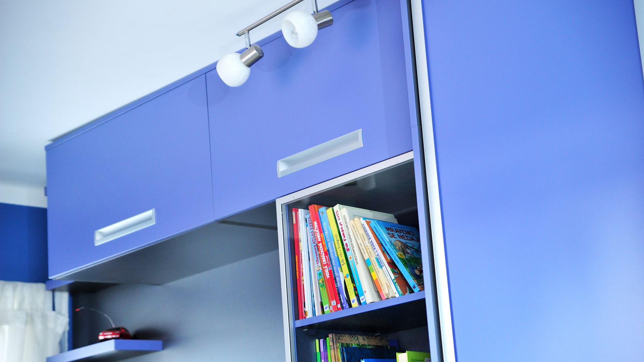 Modrý chlapecký pokoj
